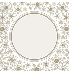 Frame template for greeting Christmas card vector image vector image