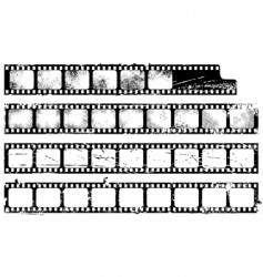 Grunge filmstrips set vector