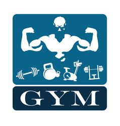gym and fitness emblem vector image vector image
