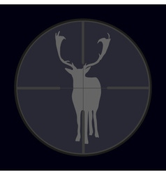 Hunting season with deer gray in gunsight eps10 vector