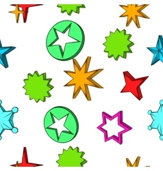 Kind of star pattern cartoon style vector image