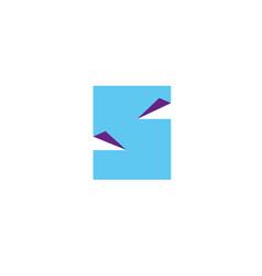letter s logo design template elements paper vector image