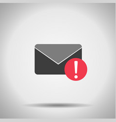 mail alert icon vector image vector image