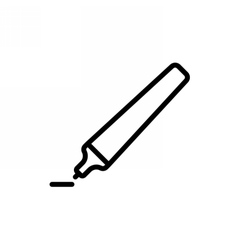 Marker Pen Outline Icon vector image vector image