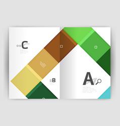 Modern geometrical a4 flyer brochure vector