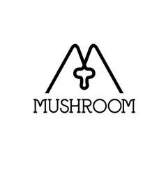Mushroom monogram vector