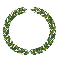 Olive crown in green color vector
