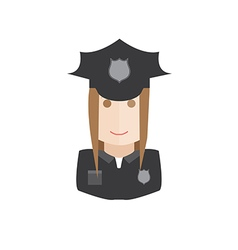 policewoman avatar vector image vector image