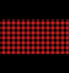Red and black lumberjack seamless pattern vector