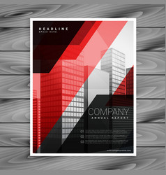 Red black abstract company brochure template vector