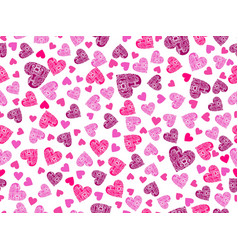 seamless pattern with hearts and an ornament vector image vector image