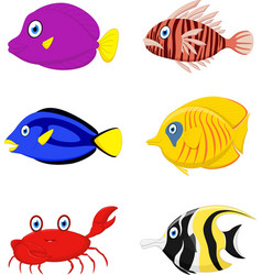 Tropical fish cartoon vector