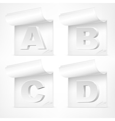 White letters symbol vector image