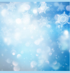 Winter pattern with crystallic snowflakes eps 10 vector