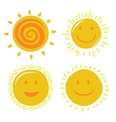 yellow sun vector image