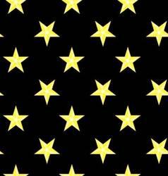 Seamless pattern bright stars night sky vector