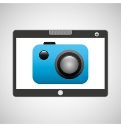 Tablet pc technology picture camera vector