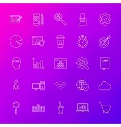 Line icons website development vector