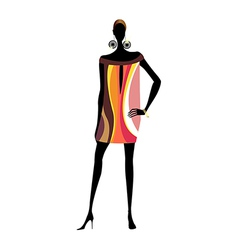 Funky exotic woman vector