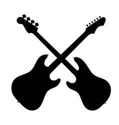 silhouette of two guitars vector image