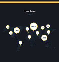 Franchise worldwide flat vector