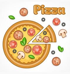 Pizza homemade vector