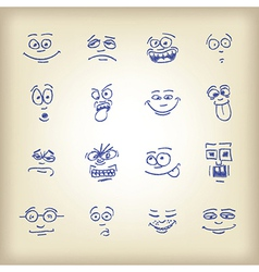 Emoticons vector image