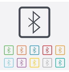 Bluetooth sign icon mobile network symbol vector