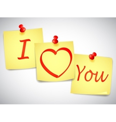 I Love You Notes vector image