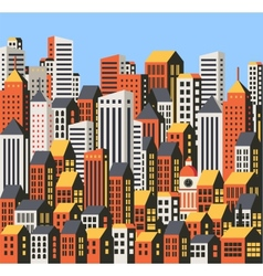 Skyscrapers and houses vector