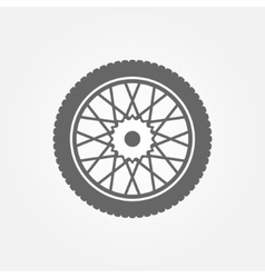 Wheel icon or symbol vector