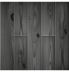Realistic dark grey wood boards texture vector