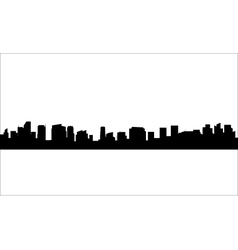 Silhouette of city with black color vector image