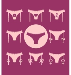 Lingerie icon simple style collection vector