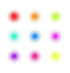 Set of circle colorful square dot banners noisy vector