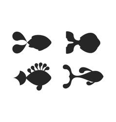 Fish black silhouette vector