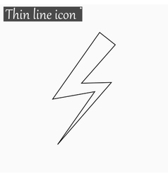 Bolt icon style thin line vector
