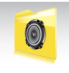 Folder with abstract audio speaker vector