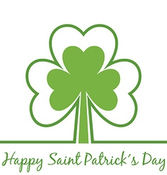 Greetings for saint patrick's day with shamrock vector