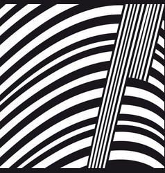 Abstract black and white lines composition vector