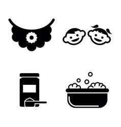 baby care simple related icons vector image