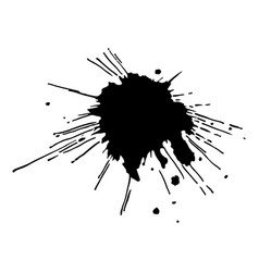 Black ink drop and splash vector