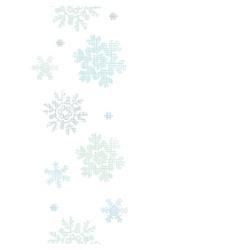 Blue Christmas Snowflakes Textile Texture Vertical vector image