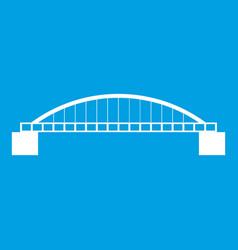 Bridge icon white vector