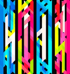 bright neon seamless pattern with grunge effect vector image vector image