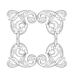 classical baroque ornament vector image