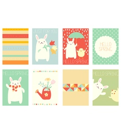 Collection of springtime banner vector image vector image