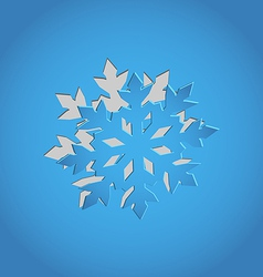 Cut out Christmas snowflake blue paper vector image vector image