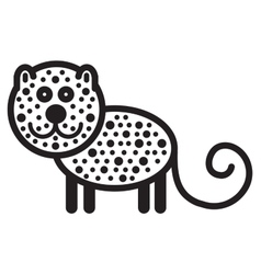 Cute animal leopard - vector image vector image