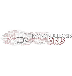Ebv word cloud concept vector